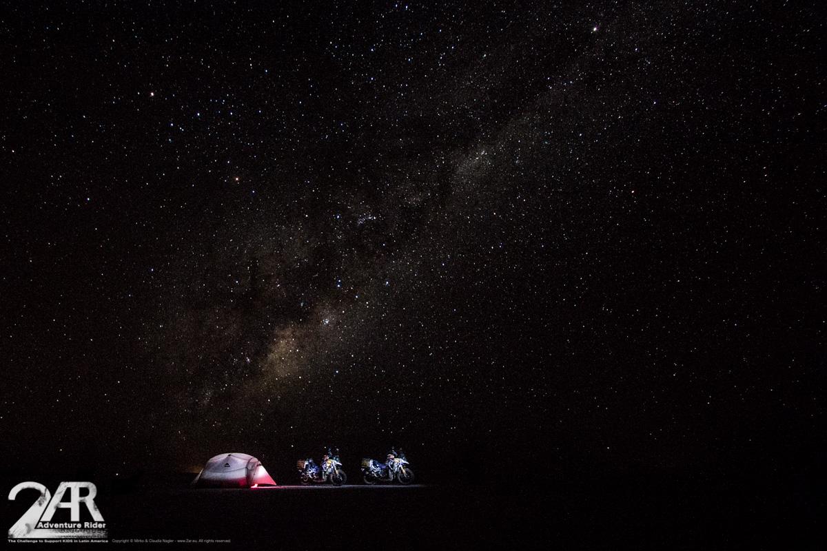 das selbe Camp aber bei nacht und -15 Grad